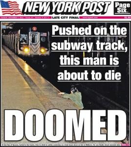 La copertina del New York Post