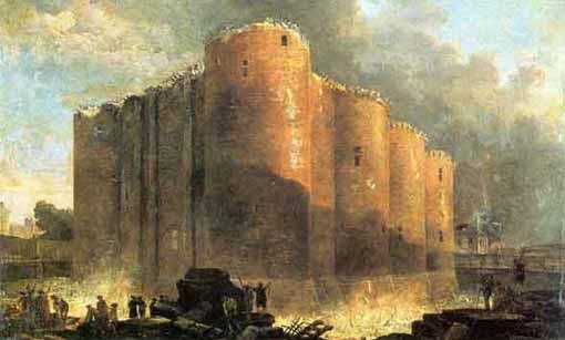 L'immagine che campeggia nel blog di Beppe Grillo: Demolizione della Bastiglia di Hubert Robert