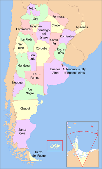 Mappa province argentine
