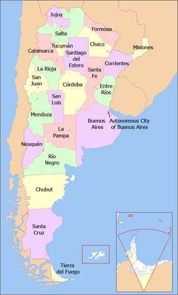 Mappa province argentine