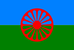 La bandiera dei Sinti-rom