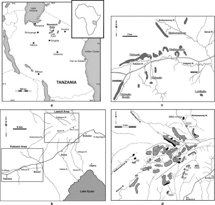 Area di ricerca di Laetoli in Tanzania