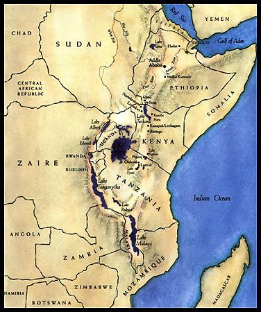 Hadar, in Etiopia. Il luogo in cui è stata ritrovata Lucy