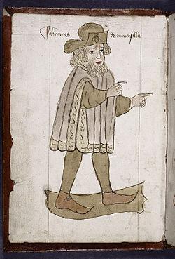 Ritratto di Sir John Mandeville. Tratto da un manoscritto del 1459