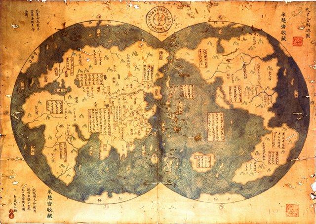 La mappa di Zheng He del 1418