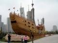 A replica of Zheng He's treasure ship in Nanjing's Baochuan Shipyard. Courtesy of www.kbismarck.org