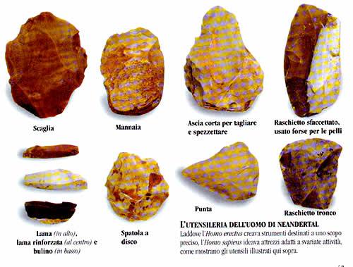 Utensileria dell'uomo di Neandertal