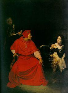 Giovanna interrogata dal cardinale di Winchester, dipinto di Paul Delaroche del 1824. Musée des Beaux-Arts, Rouen.