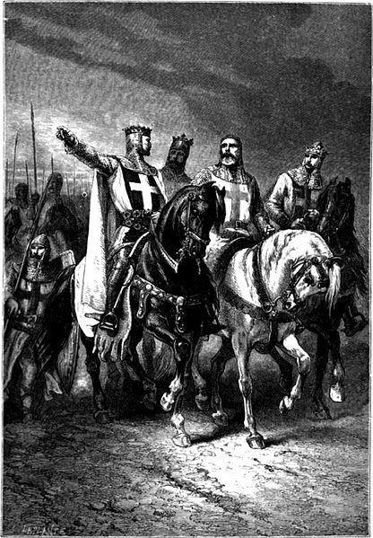 I quattro principali leaders della Crociata- Miniatura di Alphonse-Marie-Adolphe de Neuville (1835–1885)