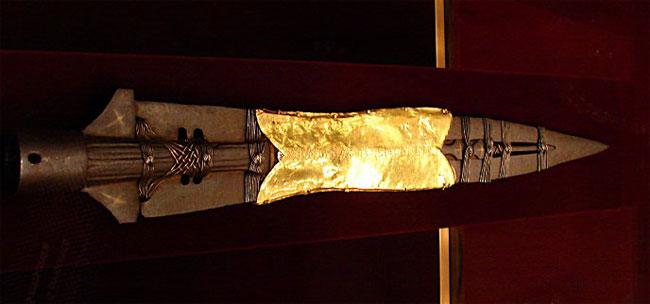 La lancia sacra conservata al Hofburg di Vienna.