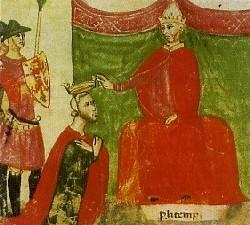 Roberto il Guiscardo investito da papa Niccolò II del titolo di duca