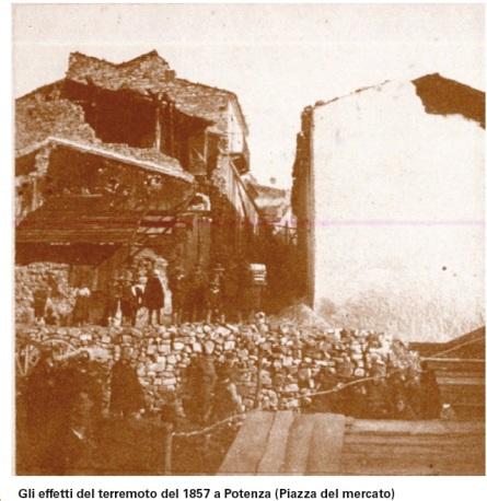 Gli effetti del terremoto del 1857 a Potenza (Piazza del mercato)