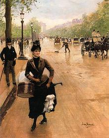 La modiste sur les Champs Elysées - Jean Béraud