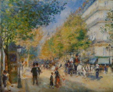 Auguste Renoir– Les Grands Boulevards