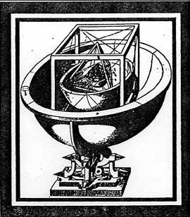 Fig 13. Modello geometrico dell'Universo tratto dal Mysterium Cosmographicum di Keplero.