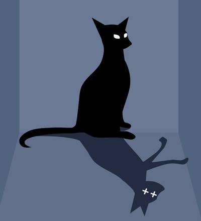 Rappresentazione del gatto di Schroedinger, uno dei più celebri esperimenti teorici della fisica quantistica (fonte: Fondazione Nobel)