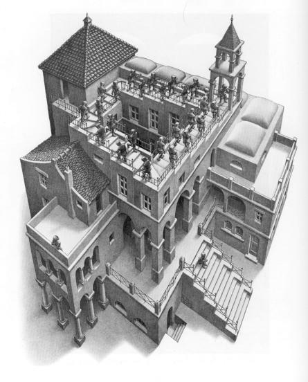 Escher- Salita e discesa