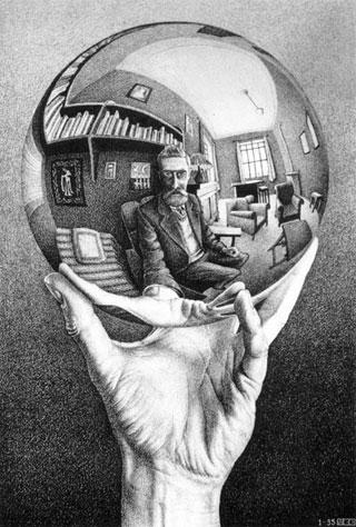 Autoritratto Maurits C.Escher 1935, Litografia