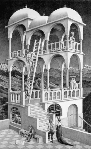 Escher- Belvedere (litografia, 1958)