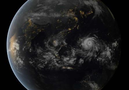 Haiyan dallo spazio