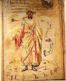 Jabir ibn Hayyan, da un manoscritto del XV secolo