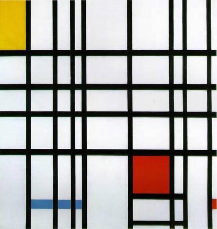 Piet Mondrian, Composizione con Giallo Blu e Rosso, 1937-42