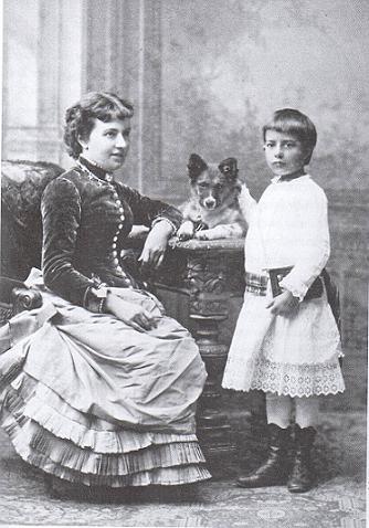 Sonia Kovaleskaja con la figlia