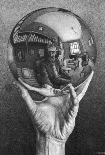 Escher- Hand with reflexing sphere
