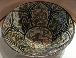 Iran, nishapur, ceramica invetriata policroma, ix-x sec.