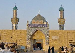 L'ingresso della moschea di Wasit